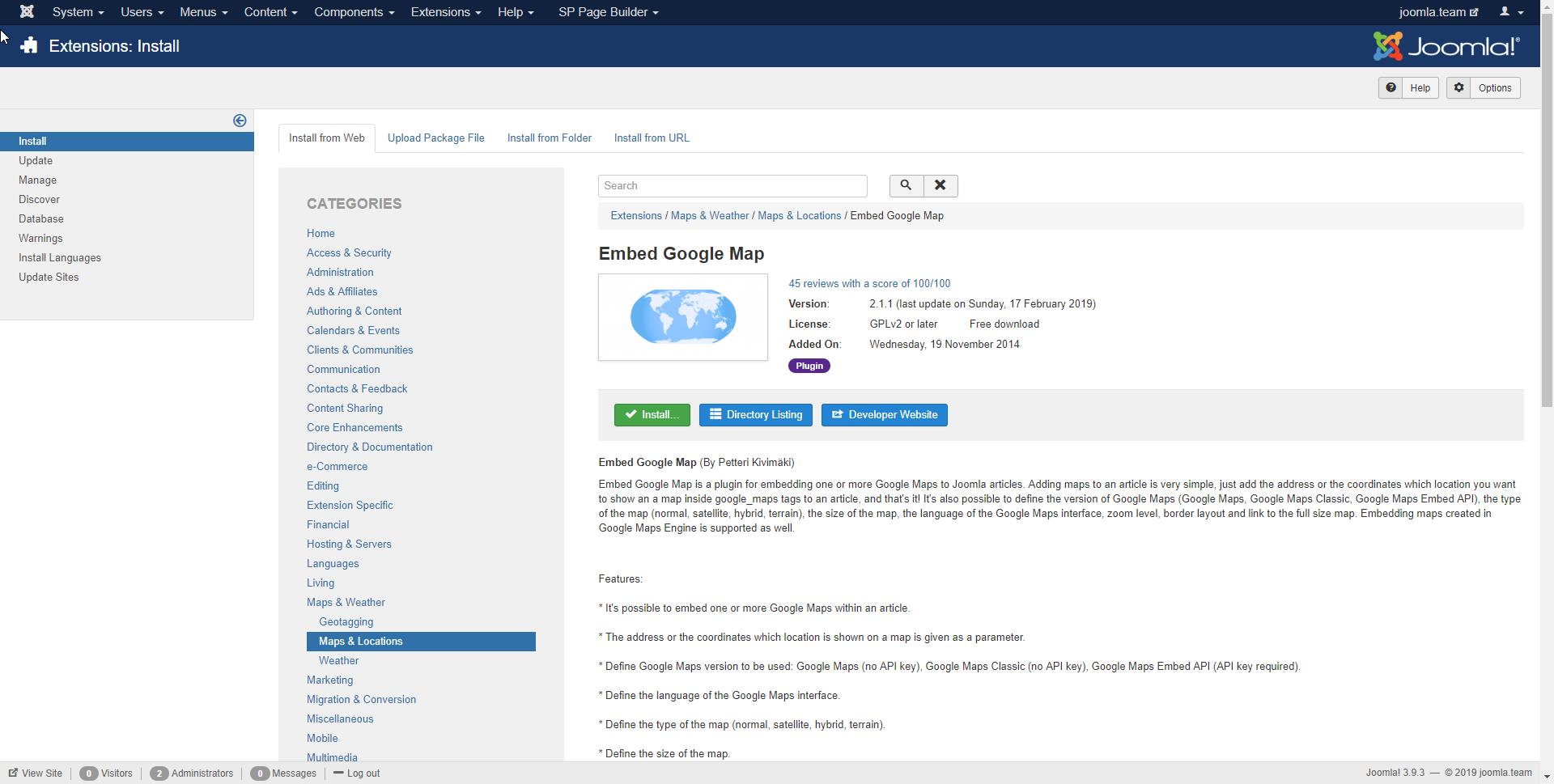 Adding a Google Map to your Joomla site | joomla team